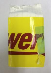 OSJのテープと養生テープで巻いてある・・・厳重な二重梱包