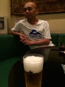 なかなかゴール直後にグラスでキンキンのビールって呑めませんよね。 ねえドタバタさん
