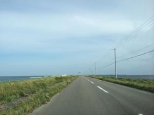 道の両側海です。