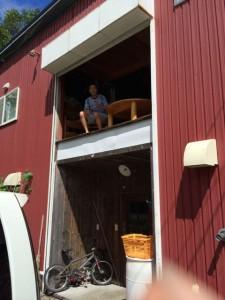 裏方で手伝っていただいた佐伯農場に滞在するKANさんの素敵な住居