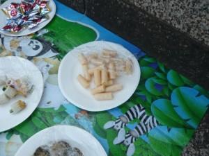 エイドの食べ物 詰めた指みたいで印象的でした