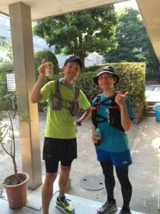 エイドが15時まででギリ到着できなかったお2人 ゴールの駒沢parkへはギリで生還されました