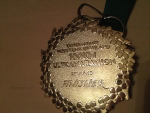 完走したらもらえるキラキラのメダル