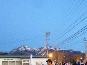 スタート前に見える八ヶ岳