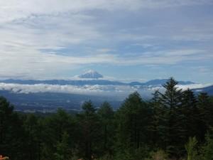 一瞬富士山が見えた!
