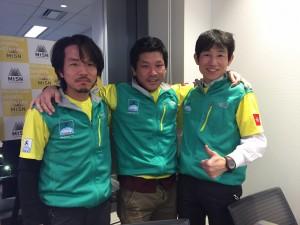 左から關さん、山田さん、定廣さん。三人ともトルデジアン大好きな方々です。MtSNの報告会にて。