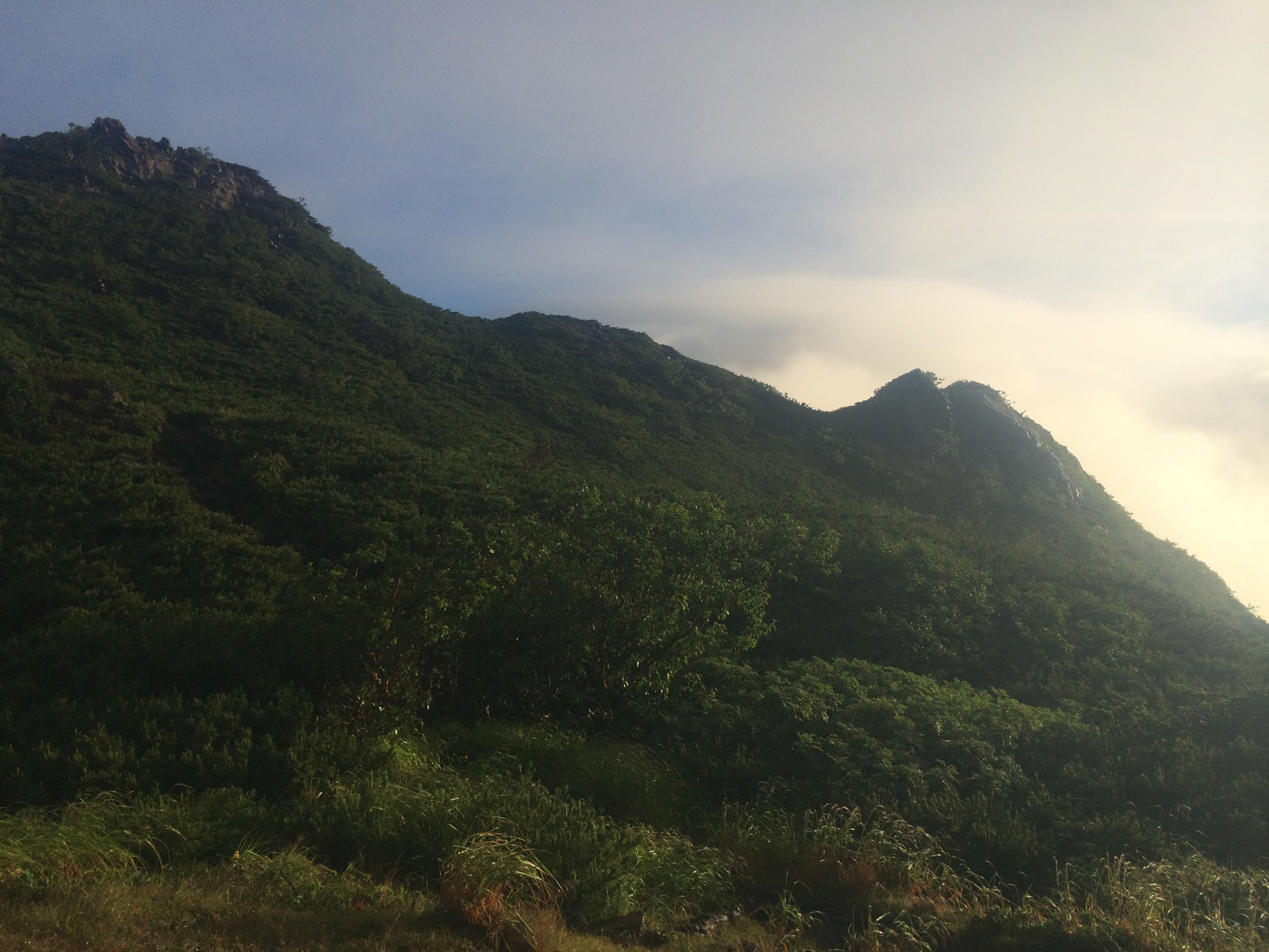聖岳付近。今回唯一一瞬の晴れ間。