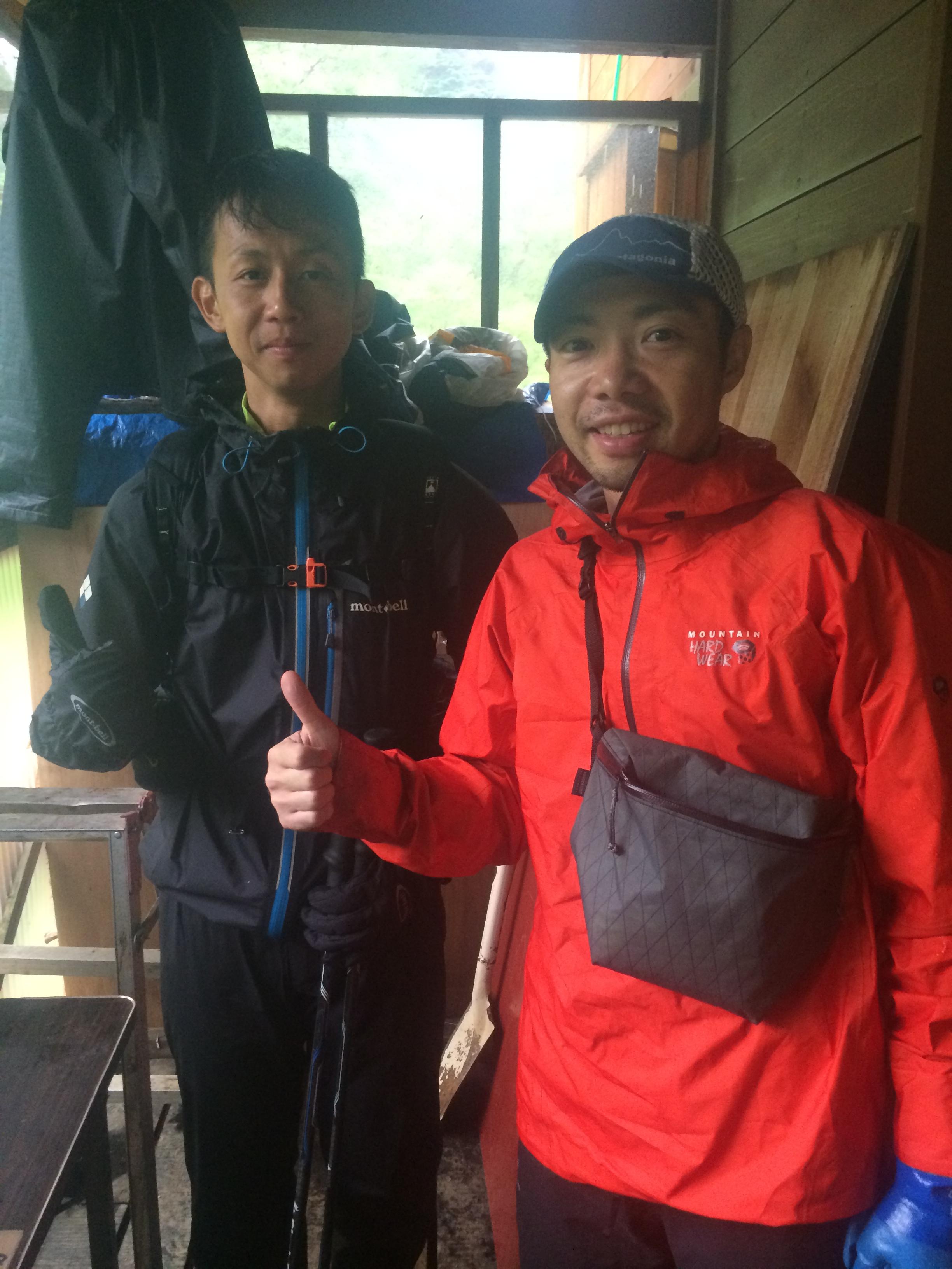 石田さん、ここまで300km近く走っているのに、爽やかです!