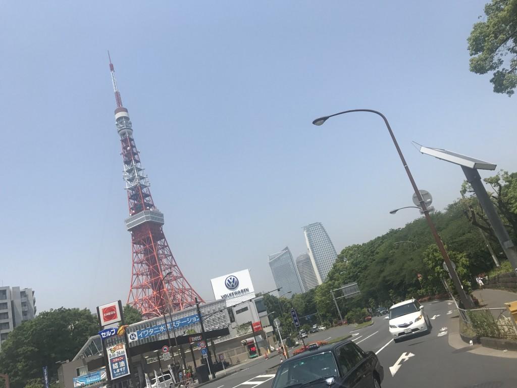 東京タワーに向かって走る!