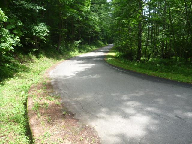 22km地点。登山道を出たら稲子湯へ舗装路を下る。