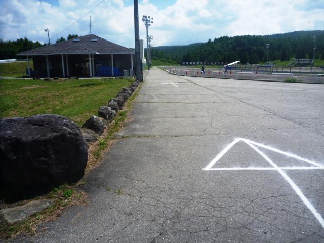 33.2km。FINISH地点の松原湖高原スケートセンターに着いた。お疲れ様でした。
